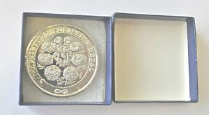 NATIONAL CHRYSANTHEMUM SOCIETY, AFFILATED SOCIETIES, 45mm SILVER PLATED MEDAL