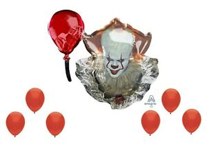 Pennywise Scary Clown It Halloween party balloons Decoration Supplies Red