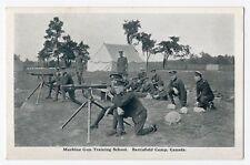 Machine Gun Training BARRIEFIELD CAMP Kingston Ontario Canada 1914-18 Geo. Clark