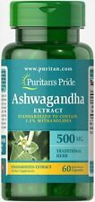 Ashwagandha Extract 500 mg 60 Rapid Release Caps by Puritan's Pride