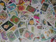 LARGE BEAUTIFUL COLLECTION OfF FLOWER WORLD STAMPS!