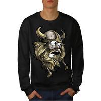 Wellcoda Scared North Joke Mens Sweatshirt, Nordic Casual Pullover Jumper