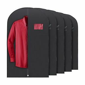 5x Black PLX Hanging Garment Bags Storage Travel Suit Bag Dress Shirt 40 Inch