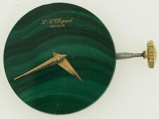 LU Chopard & CIE Geneve Felsa 4130 Watch Movement w/ Malachite Dial Hands Crown