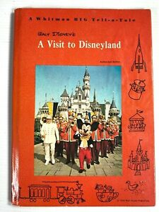1965 WALT DISNEY vintage children's book A VISIT TO DISNEYLAND with Mickey Mouse