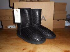 "BRAND NEW Luxury Sheepskin Black Boots by ""Pegia"" size UK 6"