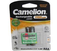 2er AKKUPACK AAA (2 Stück) Camelion Akku für Siemens Gigaset A400 A510A Batterie