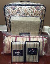 8pc RALPH LAUREN CHAPS Casablanca FULL Comforter Bedding Set TAUPE BLUE RED NWT