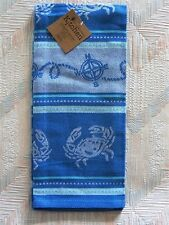 Crab Jacquard Tea Towel Blue Crabs Pattern Kay Dee Cotton