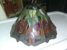 """14"""" Dragonfly Tiffany Multi-Color Stained Glass Lamp Shade leded"""