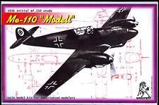 Unicraft Models 1/72 MESSERSCHMITT Me-110 MODELL Initial Bf-110 Study Aircraft