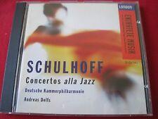 SCHULHOFF CONCERTOS ALLA JAZZ - ANDREAS DELFS - LONDON (CD 1995 USA)