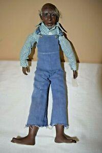 """Vintage Magge Head 1973 Black Porcelain Man Doll Signed C Combs 16"""" (v820D)"""