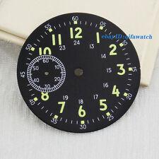 P529 Corgeut 39mm Watch Black Dial Fit for eta 6497 Seagull st36 Movement Dial