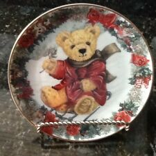 Franklin Mint Plate,Teddy's WinterWonderland by S. Bengry, (Holder Not Included)