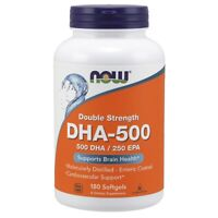 NOW DHA-500 180 SGels, Highest Potency 500 DHA/250 EPA,FRESH, Made In USA