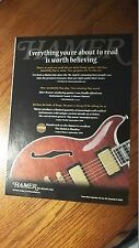 2000 PRINT AD FOR Hamer Guitars ~ The Secrets Out ~