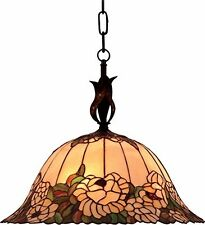 Tiffany- style hanging Chandelier, Landmark 650 TBH Ruhlmann collection