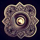 Beautiful Quatrefoil Cast Iron & Brass Door Bell