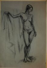 Russian Ukrainian Soviet Painting realism nude figure woman girl portrait