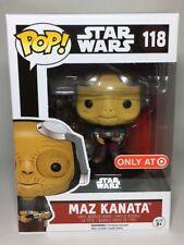 Maz Kanata Star Wars Pop! FUNKO NIB Target Exclusive Vinyl Figure 118 SW Force
