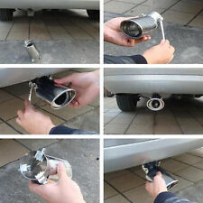 Stainless Car Rear Round Exhaust Pipe Tail Muffler Car Accessories