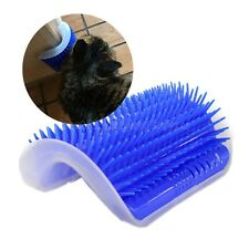 Cat Brush Comb Play Toy Plastic Scratch Bristles Arch Self-Groomer Massager IC