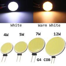 G4 COB DC12V 4/5 / 7W Pura / Caliente Lámpara LED luz blanca bombilla brillante
