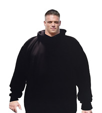 BIG AND TALL MEN 6X Hooded Plain Black Sweatshirt Pullover Hoodie Fleece Blank