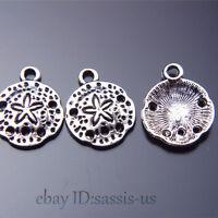 100Piece 16mm charms Tibetan Silver jellyfish Pendant sand dollars Jewelry A7522