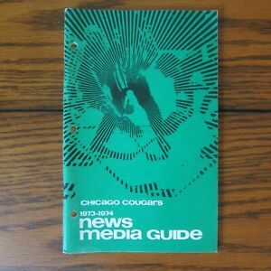 1973-74 Chicago Cougars WHA Media Guide and Yearbook Scarce!