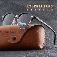 Fashion Vintage UV400 Outdoor Shades Women Mens Retro Round Polarized Sunglasses