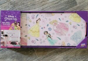 """Disney Princess MDF Wall Shelves Set of 2 Size 15"""" x 6"""" Hardware Included NEW"""