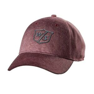 Wilson Staff One Touch Hat/Cap Brick Red Adjustable - New 2019