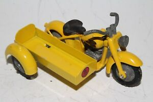 1950's Tekno Harley Davidson Motorcycle with Sidecar, Nice Original