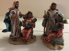 Young's Inc. Christmas Resin Nativity Holy Family African American
