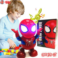 Children's Toys LED Robot Dance Spiderman 2- 9 Year Age Old Xmas Gift kids Toy