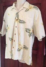 Jamaica Jaxx Men's Large 100% Silk Hawaiian Shirt New Without Tags