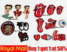 Betty Boop Red Tongue Mouth Eye Patches Badges Iron On Sew On