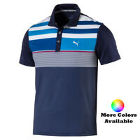 New Puma Boy's Juniors Road Map Asym Polo Golf Shirt 572360