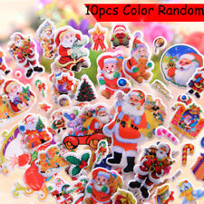 Scrapbooking Kawaii Cute Christmas Santa Claus Bubble Puffy Stickers Children