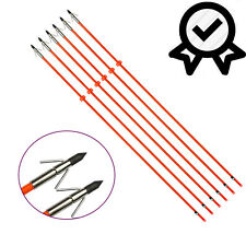 Bowfishing Arrows Fiberglass Fish Shooting Hunting Outdoor  Broadhead Points 3X
