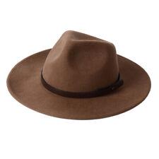 Wide Brim Fedora Hat Western Wool Cowboy Felt Hats Men Women Crushable Outback