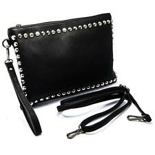 Borsello Donna Nero Pochette Brillantini Borsetta Eco Pelle Beauty Borsa Casual