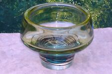 "Max Verboeket for  Kristalunie Maastricht 13"" Art Glass MCM Scandinavian Bowl"