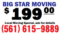 Lake Worth moving $199 moving (561)615-9858 West Pam Beach,  Boynton, Jupiter