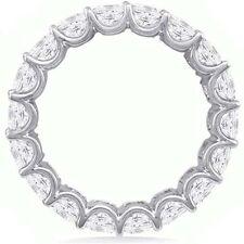 5.01 ct Asscher Cut Diamond Ring 18k Gold Eternity Band G Vsi Sz 7 0.24 ct each