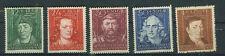 Generalgouvernement Briefmarken 1944 Berühmte Männer Mi 120 bis 124