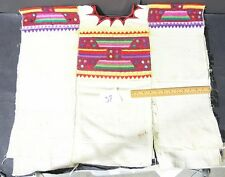 Guatemalan Huipil Traditional Design Fabric Handwoven Used Vintage Circa 1970's