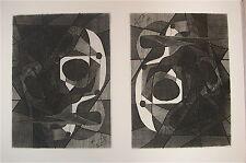 Henri-Georges Adam gravure signée Art Abstrait 47 Moutier Canton de Berne Suisse